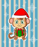 2016 New Year cute monkey Stock Image