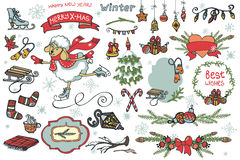 New year  cute sheep.Christmas  graphic elements Stock Image