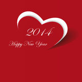 New Year 2014. Cute and simple card on New Year 2014 Stock Photos