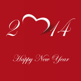New Year 2014. Cute and simple card on New Year 2014 Royalty Free Stock Photos
