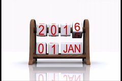 New year 2016. 3D animated video - comes the new year 2016 stock video