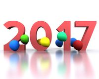 New year 2017. 3D background with new year coming - 2017 Royalty Free Stock Photography