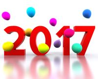 New year 2017. 3D background with new year coming - 2017 Stock Photo