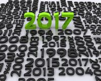 New year 2017. 3D background with new year coming - 2017 Stock Image