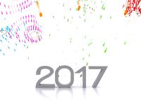 New year 2017. 3D background with new year coming - 2017 Royalty Free Stock Images