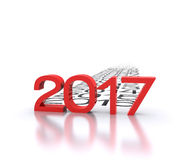 New year 2017. 3D background with new year coming - 2017 Stock Photos