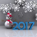 New year 2017. 3D background with new year coming - 2017 Stock Images