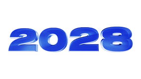 New year 2028 stock video footage