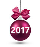 2017 New Year 3d card. Stock Photography