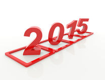 New year 2015. 3d concept design Royalty Free Stock Image