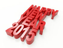 New year 2015. 3d concept design Royalty Free Stock Images