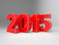 New Year 2015. 3d concept design Royalty Free Stock Photo