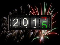 New Year 2015 d. Counter New Year 2015 d Stock Images