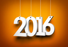 New year - 2016 - 3D digits Royalty Free Stock Photo