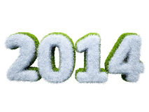 New year 2014. 3d elegant happy new year 2014 design Royalty Free Illustration