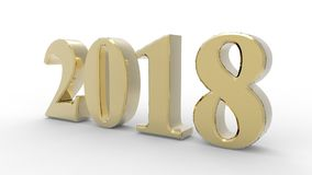 New year 2018 3d Stock Photos