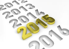 NEW YEAR 2015 - 3D Stock Image