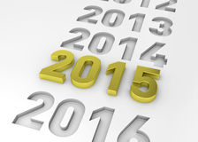 NEW YEAR 2015 - 3D Royalty Free Stock Images