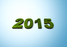 New Year 2015. 3d green 2015 new year stock illustration