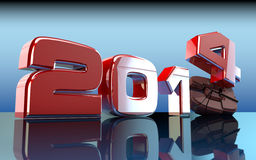 2014 New Year 3D. 2014 Year has come.3D picture Royalty Free Stock Photography