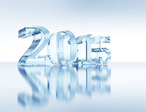 New Year 2015. 3d ice-concept vector illustration