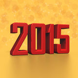 2015 New Year in 3D. Illustration Stock Photography