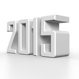2015 New Year in 3D. Illustration Royalty Free Stock Photo