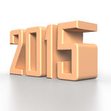 2015 New Year in 3D. Illustration Royalty Free Stock Images