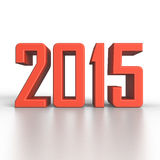 2015 New Year in 3D. Illustration Stock Photos