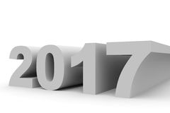 2017 New Year. 3D illustration Vector Illustration