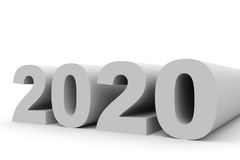 2020 New Year. 3D illustration Stock Photo