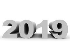 2019 New Year. 3D illustration Royalty Free Stock Image