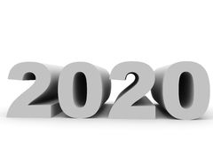 2020 New Year. 3D illustration Stock Images