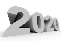 2020 New Year. 3D illustration Stock Image