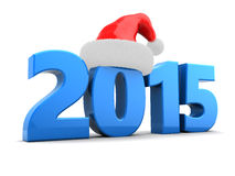 2015 new year. 3d illustration of 2015 new year and Christmas concept Stock Image