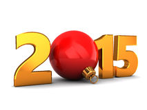 2015 new year. 3d illustration of 2015 new year and Christmas concept Royalty Free Stock Photo