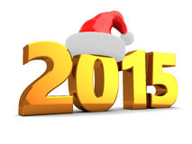 2015 new year. 3d illustration of 2015 new year and Christmas concept, over white background Stock Photography