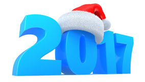 2017 new year. 3d illustration of 2017 new year and Christmas holiday symbol Stock Photography