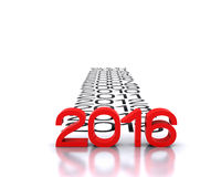 New Year 2016. 3D illustration - comes the new 2015 Royalty Free Stock Image
