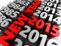 New year. 3d illustration of new year 2015 concept Royalty Free Stock Images