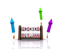 New Year 2016 Stock Photos