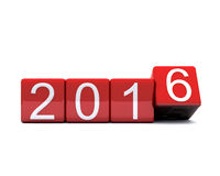 New Year 2016. 3D illustration - dice with new year 2016 Royalty Free Stock Photos