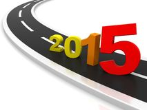 New year 2015. 3D illustration - Here comes the new year 2015 Stock Photos