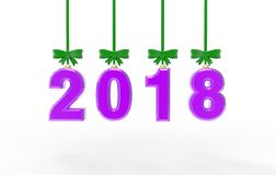 New year 2018 3d illustration Stock Image