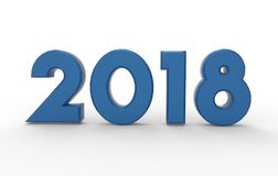 New year 2018  3d illustration Stock Photo