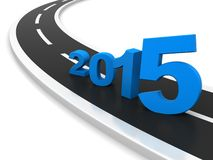 New year 2015. D illustration - the road leading to the New Year 2015 Stock Photos