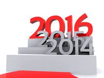 New Year 2016. 3D illustration - the road leading to the New Year 2015 Stock Images