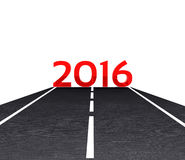 New Year 2016. 3D illustration - the road leading to the New Year 2015 Royalty Free Stock Image