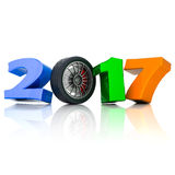 New Year 2017 3D illustration Royalty Free Stock Images