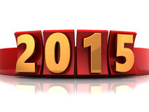 New year. 3d illustration of new 2015 year sign Stock Image